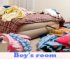 Boy's room. Find objects